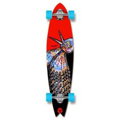Fishtail Longboard Complete - The Bird Red