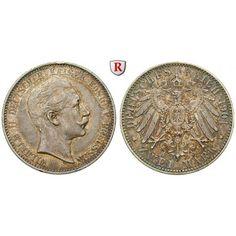 Deutsches Kaiserreich, Preussen, Wilhelm II., 2 Mark 1901, A, ss+/ss-vz, J. 102: Wilhelm II. 1888-1918. 2 Mark 1901 A. J. 102; sehr… #coins