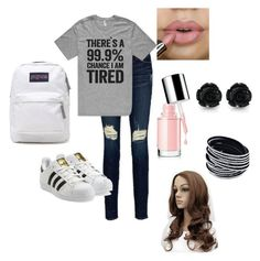 """Untitled #32"" by parislanee on Polyvore featuring Frame Denim, adidas Originals and JanSport"