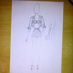 GHonorio Fashion: Jaqueta curta, cropped e shot #fashion #croquis