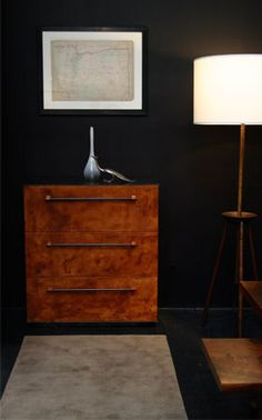 BDDW Bronze Dresser with Leather Drawer Fronts