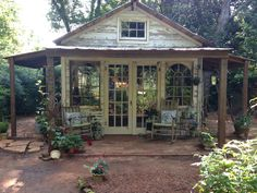 Fun She Shed Conversion Ideas - Nice 20 Incredible Studio Shed Designs Ideas For Your Backyard. …you want a more permanent locati - Painted Garden Sheds, Garden Shed Diy, Backyard Sheds, Diy Shed, Wooden Garden, Backyard House, Garden Ideas, Backyard Studio, Studio Hangar