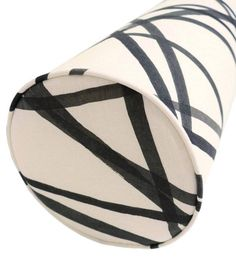 The Bolster : Channels // Ebony Ivory Kelly Wearstler Kelly Wearstler, Little Designs, Perfect Pillow, Fabric Samples, Pillow Inserts, Ivory, Brass, Pillows, Etsy