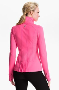 Zella 'Allison' Back Pleat Jacket   Nordstrom. $108. Love the color and the small frill!