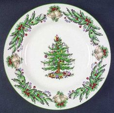 Make candles, nightlights, and cake plates with your china pattern - my Christmas china