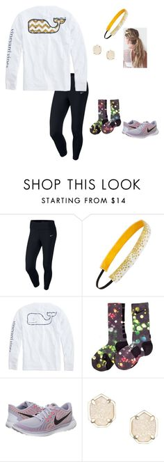 """Set 1// Find a Spot"" by lucycavv ❤ liked on Polyvore featuring NIKE, Sweaty Bands, Vineyard Vines, Kendra Scott and newyearseveinnyc"