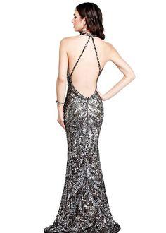 Silver Sequin Low Back Dress - Sequin Long Dress http://www.loveitsomuch.com/