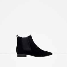 Image 1 of FLAT LEATHER ANKLE BOOTS from Zara