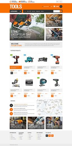 Tools Store #OpenCart #webtemplate #themes #business #responsive #template