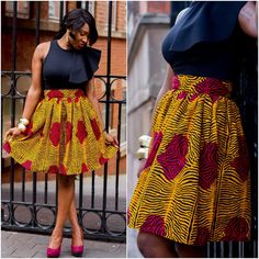 45 Latest Ankara Skirts Styles - Reny styles Source by beliamtg African Attire, African Wear, African Skirt, African Style, African Design, African Print Fashion, African Fashion Dresses, Ankara Fashion, African Outfits