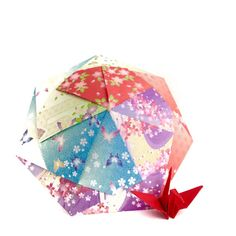 Etsy の 折り紙傘RL by SelectShopNORA #origami #parasol #umbrella #Japan #cute #fun #colorful #accessory #decor