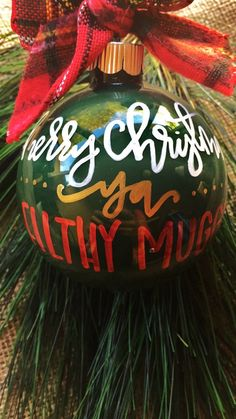 Merry Christmas Ya Filthy Muggle Hand Painted Ornament 10 Harry Potter