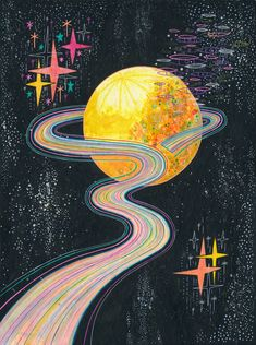 To unwind Art Print by Asja Boros - X-Small Pintura Hippie, Walpapers Cute, Psychedelic Drawings, Psychedelic Space, Arte Indie, Psychadelic Art, Trippy Painting, Psy Art, Trippy Wallpaper