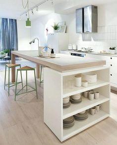 table cuisine blanche great cuisine blanche avec lot central et espace rangement with table cuisine retractable table de cuisine blanche et ronde