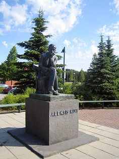 Statue of Aleksis Kivi, Nurmijärvi Finland Meanwhile In Finland, Red Army, More Photos, Countryside, Garden Sculpture, Parks, Map, Statue, Landscape