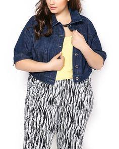 81b969c3957ac Penningtons Womens Plus Size d c JEANS Short Sleeve Denim Jacket -- This is