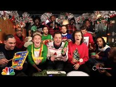 "Jimmy Fallon, One Direction & The Roots: ""Santa Claus Is Coming To Town"" (Classroom Instruments) - YouTube"