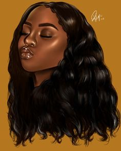 Drawing Hairstyle Middle Leng Hair Wigs Curly Hairstyle Black Color Synthetic Lace Front Wigs For Women High Temperature Fiber Average Size - Black Love Art, Black Girl Art, My Black Is Beautiful, Color Black, Drawings Of Black Girls, Girl Drawings, Black Girl Cartoon, Black Art Pictures, Natural Hair Art