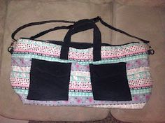 upcycled overnight bag. click picture for more pics and how i made it :)