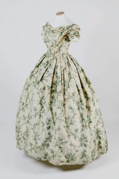 Evening dress, ca. 1855  Materials: Silk  (n.d.)  Collection: Springhill House, County Londonderry (Northern Ireland)