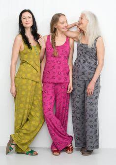 """Housut """"Roze"""" mikromodaalia/elastaania – Keskikesän mallisto – GUDRUN SJÖDÉN - vaatteita verkossa ja postimyynnissä"""