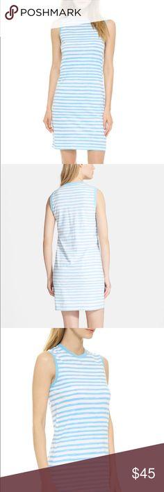 MARC BY MARC JACOBS Sketch Stripe Jersey T-Dress Illustrative stripes wrap  robin's-egg