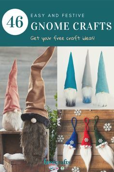 There's something for everyone in this terrific collection of gnome crafts! Find crochet gnome patterns, Christmas gnome crafts, and more! Easy Christmas Crafts, Christmas Gnome, Simple Christmas, Christmas Ideas, Christmas Decorations, Knitting Patterns For Dogs, Popular Crafts, Decoration Crafts, Craft Free