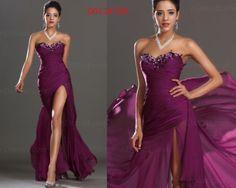 eDressit Hot Sale Sexy Slit Hot Long Evening Dress Prom Ball Gown UK 6-20 | eBay