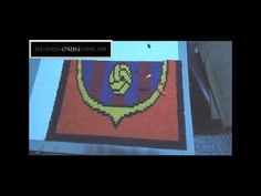 Tutorial Cuadro Escudo Barcelona Origami 3D - YouTube
