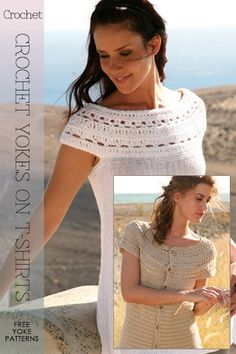 Crochet yokes onto t-shirts. There were a few lace knitting yokes I could maybe do this with.