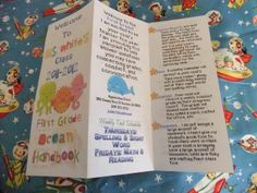 I wonder if I can make my own version for meet the teacher night? Open House/Meet the teacher night brochures.adjust for your grade and requirements (great for fall open house school starts) Back To School Night, 1st Day Of School, Beginning Of The School Year, Too Cool For School, School Fun, School Stuff, School 2013, School Starts, Sunday School