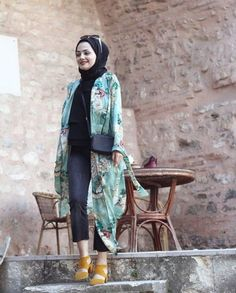 Casual chiffon kaftans with hijab – Just Trendy Girls