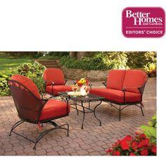 Better Homes and Gardens Clayton Court 4-Piece Patio Conversation Set, Seats 4 - Walmart.com