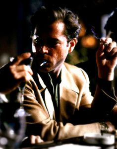 Ray Liotta in Goodfellas. I HATE Henry Hill, but Ray Liotta is so pretty in this movie