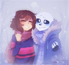 Awww why is this picture so cute? Frisk From Undertale, Sans X Frisk Comic, Frans Undertale, Undertale Ships, Undertale Fanart, Undertale Comic, Chara, Sans Cute, Undertale Drawings