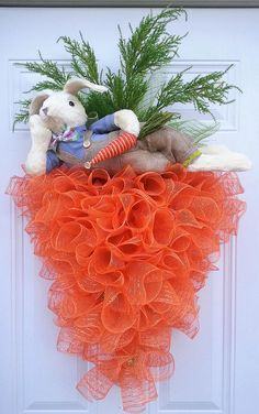 Easter Centerpiece - Easter Arrangement - Easter Home Decor - Easter Gift - Bunny Centerpiece - Spring Centerpiece - Bunny Arrangement Wreath Crafts, Diy Wreath, Door Wreaths, Wreath Ideas, Wreath Burlap, Diy Easter Decorations, Easter Centerpiece, Easter Crafts, Easter Gift