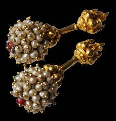 Gold & Pearl (Bugdi or Koppu) Ear Studs - Michael Backman LtdMichael Backman Ltd