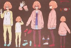 Shared by Yuki-Chan ❄️. Find images and videos about anime, kyoukai no kanata and Mirai on We Heart It - the app to get lost in what you love. Character Model Sheet, Character Drawing, Character Concept, Character Design, Concept Art, Pretty Anime Girl, Kawaii Anime Girl, Sad Anime, Anime Art