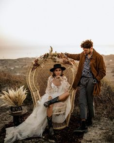 "Τie the Knot | Maria Sila on Instagram: ""All you need is love and the boho vibes 🤩 📸: @chrisandruth✨  #destinationelopement #santoriniwedding  #europeelopement #greecewedding…"" Couple Photoshoot Poses, Couple Photography Poses, Wedding Photoshoot, Chair Photography, Friend Photography, Maternity Photography, Family Photography, Wedding Couples, Boho Wedding"