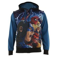 Marvel Heroes - AVX Sublimated Zip Hoodie With Removable Sleeves
