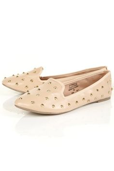 Nude Studded Loafers  just beautiful.
