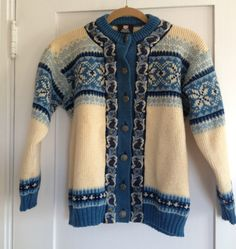 Vintage Norwegian Sweater With Embroidery by CuratorialDepartment