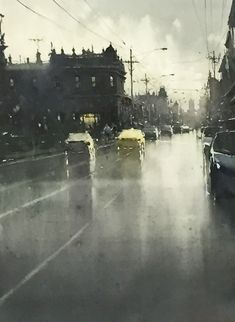 Joseph Zbukvic, Johnstone Street watercolor, available