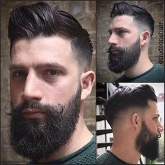 Reposts from @hudsonshair This is a haircut and a beard trim that belongs in my series: some posts just need to be reposted. I found these great shots at @hudsonshair of a well-bearded gent with great...