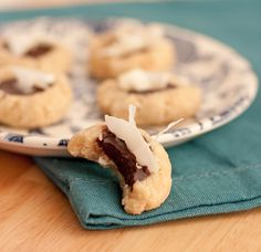 Coconut Chocolate Thumbprint Cookies #MyLivingNutrition