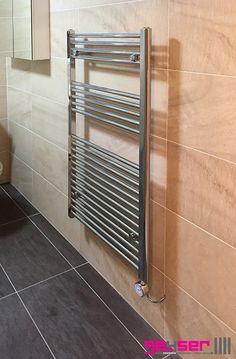 """Geyser """"STRAIGHT LADDER"""" Heated Towel Rail / Electric Towel Rail."""