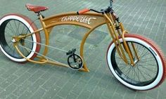 Custom Beach Cruiser, Beach Cruiser Bikes, Cruiser Bicycle, Motorized Bicycle, Velo Vintage, Vintage Bicycles, Cool Bicycles, Cool Bikes, Trike Scooter