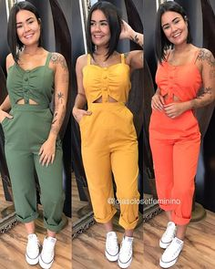 Tumblr Fashion, Summer Looks, Wardrobes, Bob Hairstyles, Spring Outfits, Ideias Fashion, Cool Outfits, Jumpsuit, Street Style