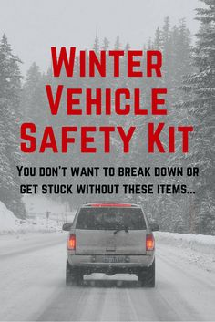Emergency car kit for the winter