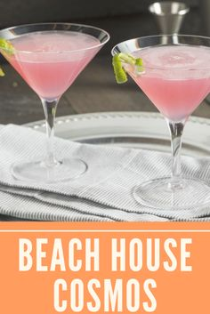 Beach House Cosmos - This cocktail features the many desired flavor for a summer cocktail. It has vodka so, you realize, it really is refined and strong. The cranberry juice is each sweet and tart, and it matches properly together with the limeade. #cocktailrecipes Cranberry Margarita, Cranberry Juice Cocktail, Cosmos, Cosmo Recipe, Vodka, Juice Drinks, Coconut Rum, Fresh Cranberries, Frozen Drinks